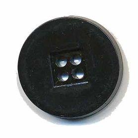 Knoop retro zwart 25 mm (ca. 25 stuks)