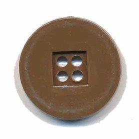 Knoop retro bruin 25 mm (ca. 25 stuks)