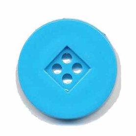 Knoop retro blauw 25 mm (ca. 25 stuks)