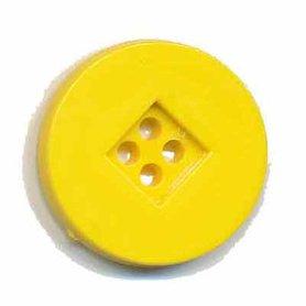 Knoop retro geel 25 mm (ca. 25 stuks)