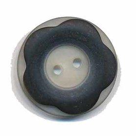 Bloemknoop met opstaande rand zwart 25 mm (ca. 25 stuks)
