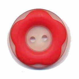 Bloemknoop met opstaande rand rood 25 mm (ca. 25 stuks)