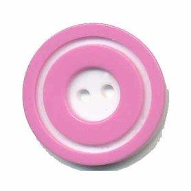 Knoop 'donut' groot roze 25 mm (ca. 25 stuks)