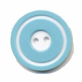 Knoop 'donut' groot licht blauw 25 mm (ca. 25 stuks)