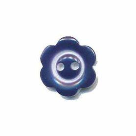 Bloemknoop met rand donker blauw 15 mm (ca. 50 stuks)
