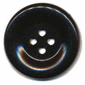 Grote knoop zwart 50 mm (10 stuks)