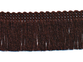 Franjeband donker bruin ca. 30 mm (ca. 22 meter)