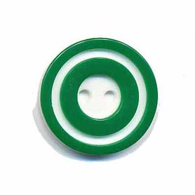 Knoop 'donut' middel donker groen 20 mm (ca. 25 stuks)
