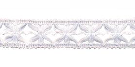 Gebreid sierband wit ca. 15 mm (ca. 10 m)