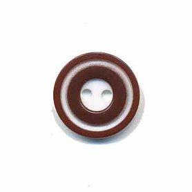 Knoop 'donut' klein bruin 15 mm (ca. 50 stuks)