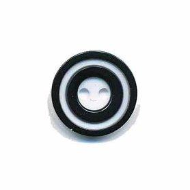 Knoop 'donut' klein zwart 15 mm (ca. 50 stuks)