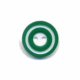 Knoop 'donut' klein donker groen 15 mm (ca. 50 stuks)