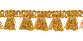 Band met kwastjes goudgeel 15 mm (ca. 16 meter)