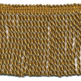 Franjeband gedraaid warm goud lurex ca. 100 mm (ca. 25 meter)