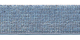 Elastiek lurex zilver 25 mm (ca. 25 m)