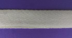 Katoenen keperband ecru 15 mm (ca. 50 m)