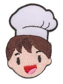 Opstrijkbare applicatie kok jongen (5 stuks)