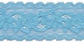 Elastisch kant licht blauw 30 mm (ca. 10 m)
