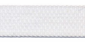 Tassenband 25 mm wit (50 m)
