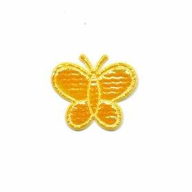 Applicatie glim vlinder geel klein 20 x 20 mm (ca. 100 stuks)