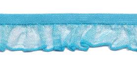 Aqua blauw roezel elastiek 19 mm (ca. 10 meter)