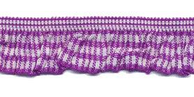 Paars-wit geruite roezel elastiek 19 mm (ca. 10 meter)
