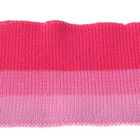 Boord donker roze-roze-licht roze gestreept ca. 47 cm (6 stuks)