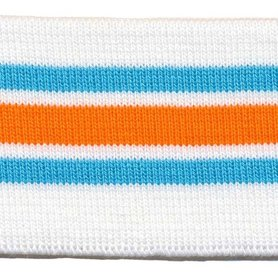 Boord blauw-oranje-wit gestreept ca. 55 cm (6 stuks)
