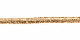 Elastisch koord lurex goud 3 mm (ca. 50 m)