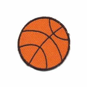 Opstrijkbare applicatie basketbal (5 stuks)