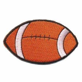 Opstrijkbare applicatie rugby bal (5 stuks)