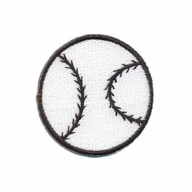 Opstrijkbare applicatie softbal / honkbal (5 stuks)