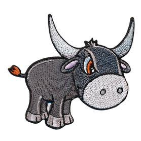 Opstrijkbare applicatie waterbuffel (5 stuks)