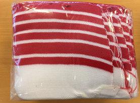 Boord rood-wit gestreept ca. 55 cm (6 stuks)