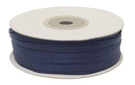 Donker blauw dubbelzijdig satijnband 4 mm (ca. 90 m)