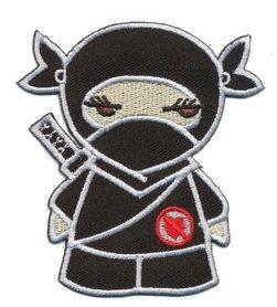 Opstrijkbare applicatie Ninja zwart (5 stuks)