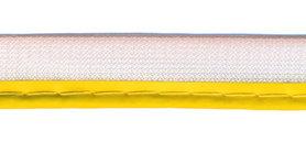 Reflecterende piping-/paspelband geel - 2 mm koord (ca. 25 meter)