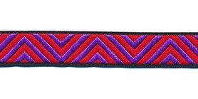 Sierband zigzag paars-rood 12 mm (ca. 22 m)