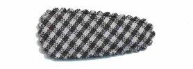 Haarkniphoesje zwart-wit geruit 3 cm (ca. 100 stuks)