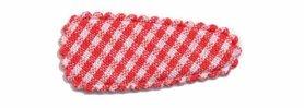 Haarkniphoesje rood-wit geruit 3 cm (ca. 100 stuks)