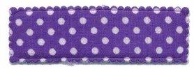 Haarkniphoesje paars met witte stip / polkadot 5 cm rechthoekig (ca. 100 stuks)