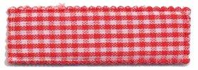Haarkniphoesje rood-wit geruit 5 cm rechthoekig (ca. 100 stuks)
