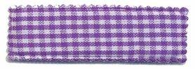 Haarkniphoesje paars-wit geruit 5 cm rechthoekig (ca. 100 stuks)