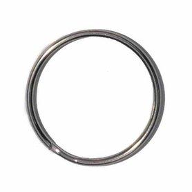 Sleutelring zilverkleurig 30 mm (10 stuks)