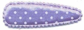 Haarkniphoesje satijn lila met witte stip / polkadot 5 cm (ca. 100 stuks)