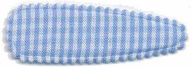 Haarkniphoesje geruit licht blauw-wit 5 cm (ca. 100 stuks)