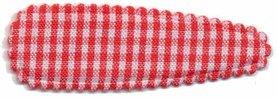 Haarkniphoesje geruit wit-rood 5 cm (ca. 100 stuks)