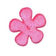 Applicatie bloem roze fluweel middel 35 mm (ca. 100 stuks)