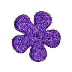 Applicatie bloem paars fluweel middel 35 mm (ca. 100 stuks)
