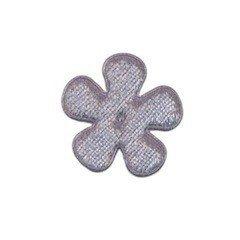 Applicatie bloem grijs fluweel klein 25 mm (ca. 100 stuks)